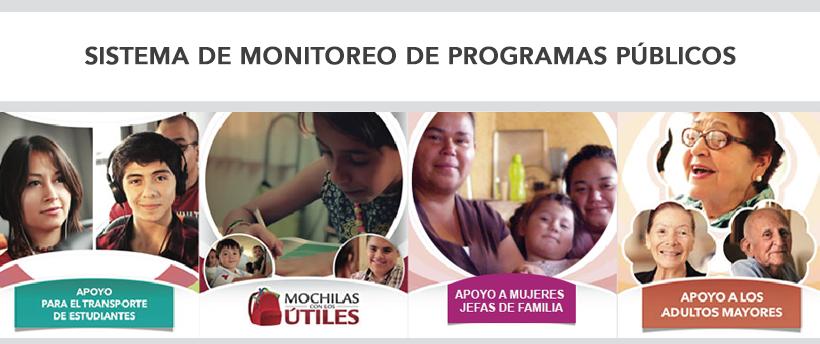 Imagen que promociona el sistema de monitoreo de programas públicos